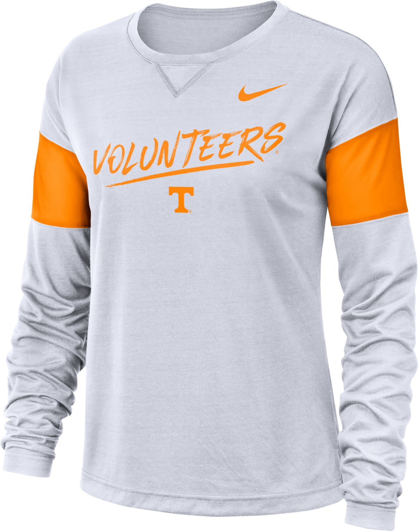 Nike Women's Tennessee Volunteers Dri-FIT Breathe Long Sleeve White T-Shirt