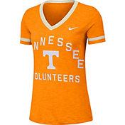 Nike Women's Tennessee Volunteers Tennessee Orange Slub Fan V-Neck T-Shirt