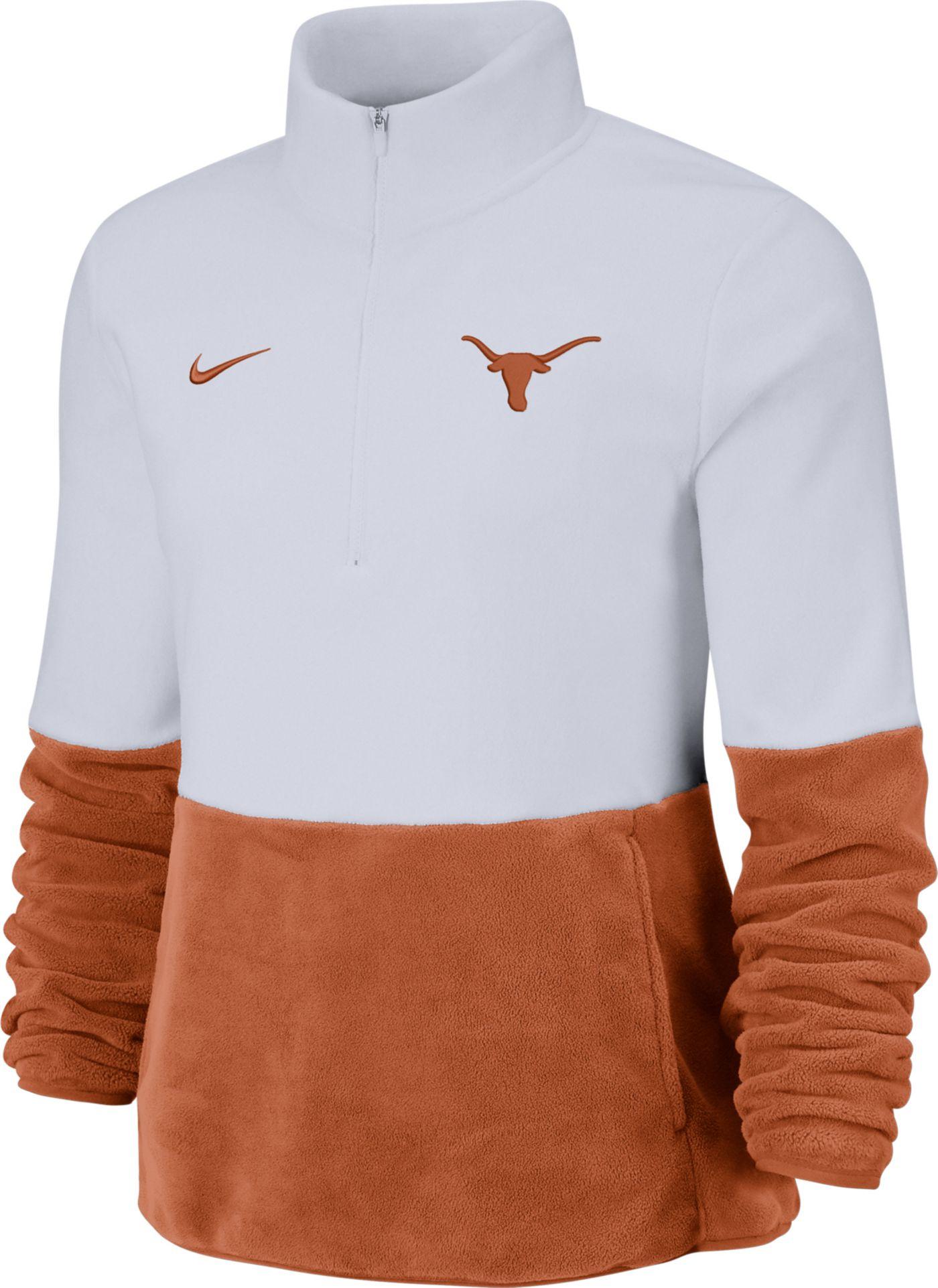 Nike Women's Texas Longhorns Cozy Therma White Half-Zip Fleece