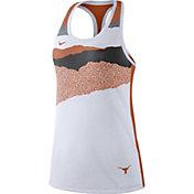 Nike Women's Texas Longhorns Racerback Dri-FIT White Tank Top