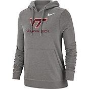 Nike Women's Virginia Tech Hokies Grey Club Fleece Pullover Hoodie