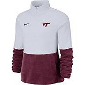 Nike Women's Virginia Tech Hokies Cozy Therma White Half-Zip Fleece