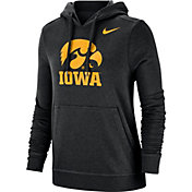 Nike Women's Iowa Hawkeyes Club Fleece Pullover Black Hoodie