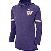 Nike Women's Washington Huskies Purple Funnel Neck Long Sleeve Top