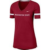 Nike Women's Washington State Cougars Crimson Dri-FIT Fan V-Neck T-Shirt