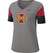 Nike Women's Iowa State Cyclones Grey Breathe V-Neck T-Shirt