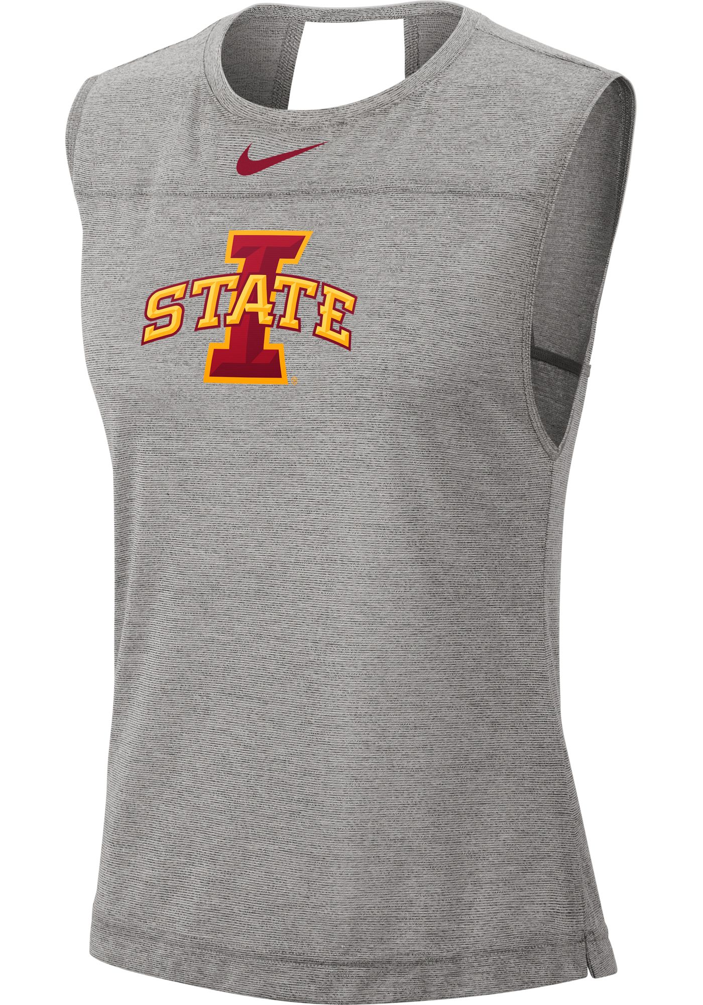Nike Women's Iowa State Cyclones Grey Breathe Tank Top