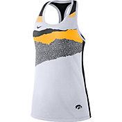 Nike Women's Iowa Hawkeyes Racerback Dri-FIT White Tank Top