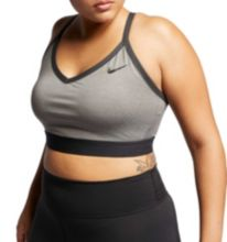 3c9563aa81 Nike Women s Plus Size Solid Indy Sports Bra. Carbon Heather