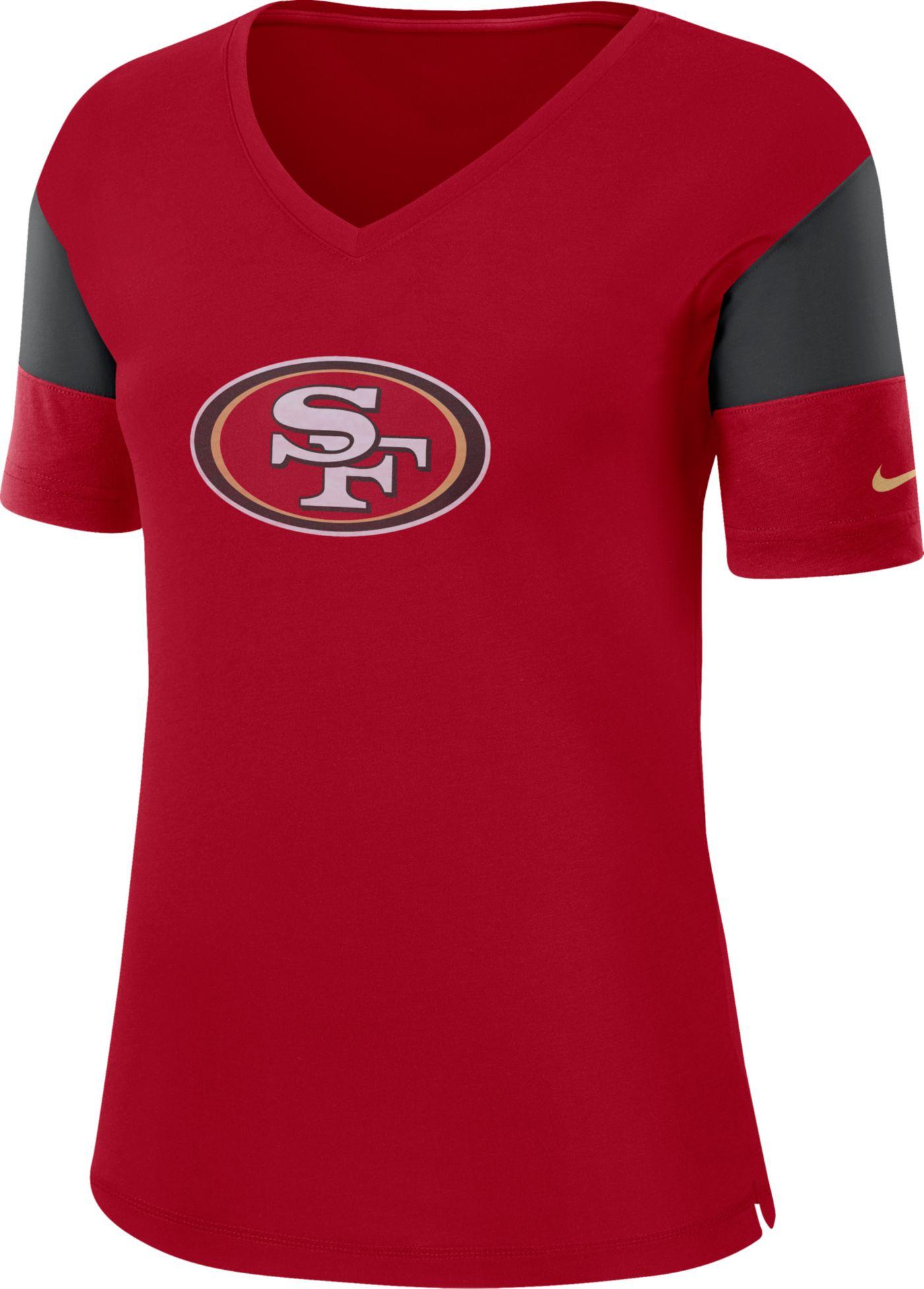 Nike Women's San Francisco 49ers Breathe Red V-Neck T-Shirt