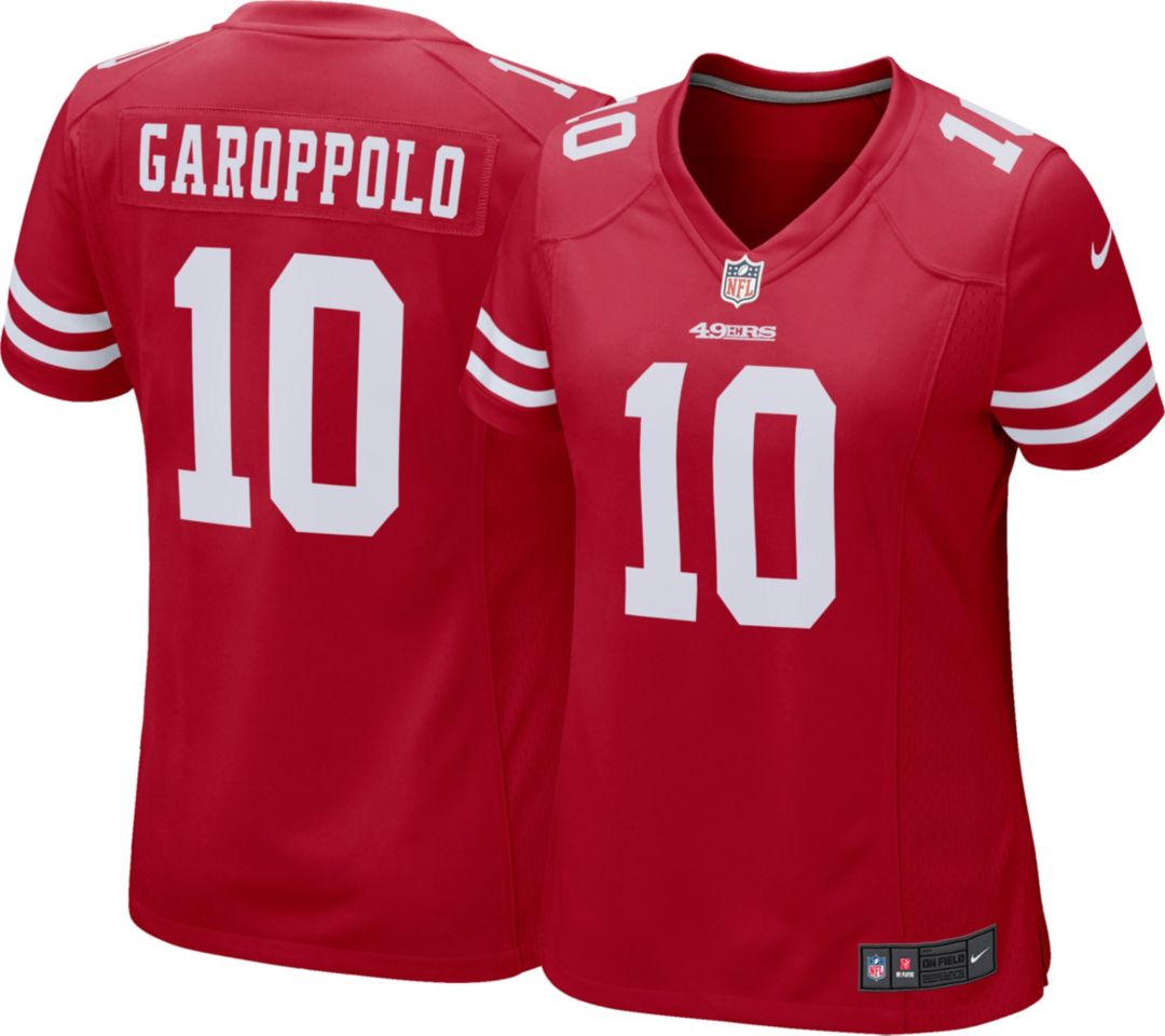 official photos f25d2 608e5 Nike Women's Home Game Jersey San Francisco 49ers Jimmy Garoppolo #10