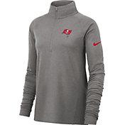 Nike Women's Tampa Bay Buccaneers Core Grey Half-Zip Performance Pullover