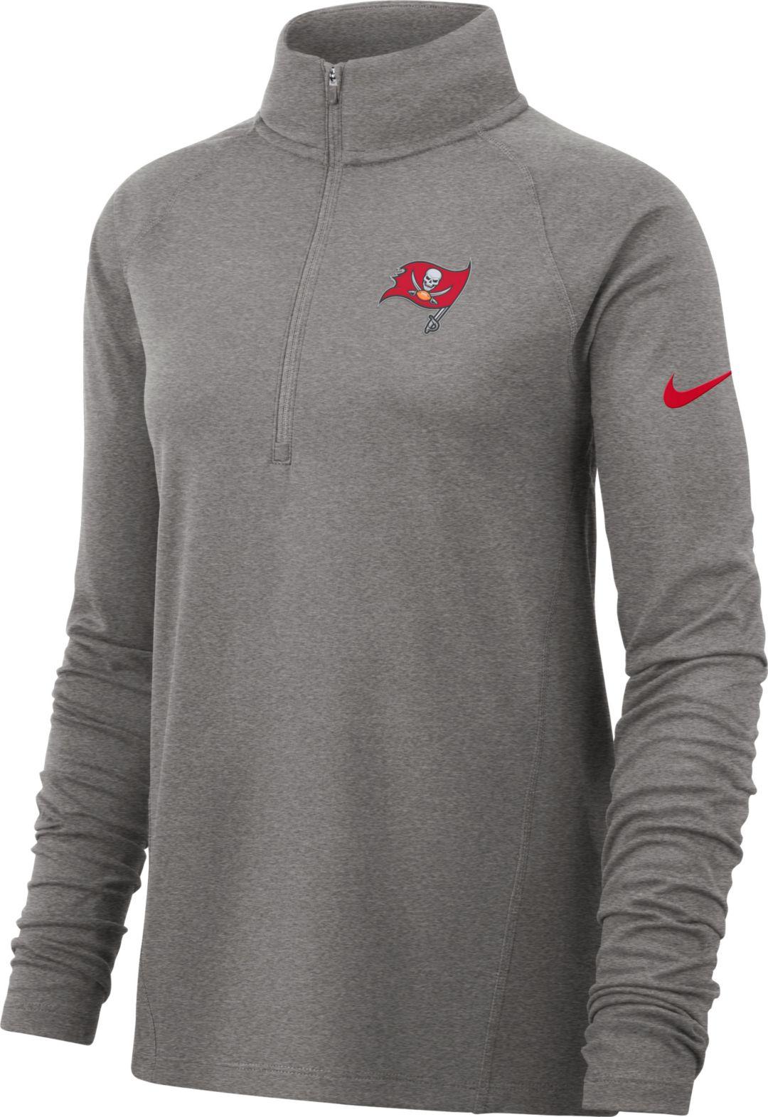 7e0551a4 Nike Women's Tampa Bay Buccaneers Core Grey Half-Zip Performance Pullover
