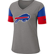 Nike Women's Buffalo Bills Breathe Heather Grey V-Neck T-Shirt