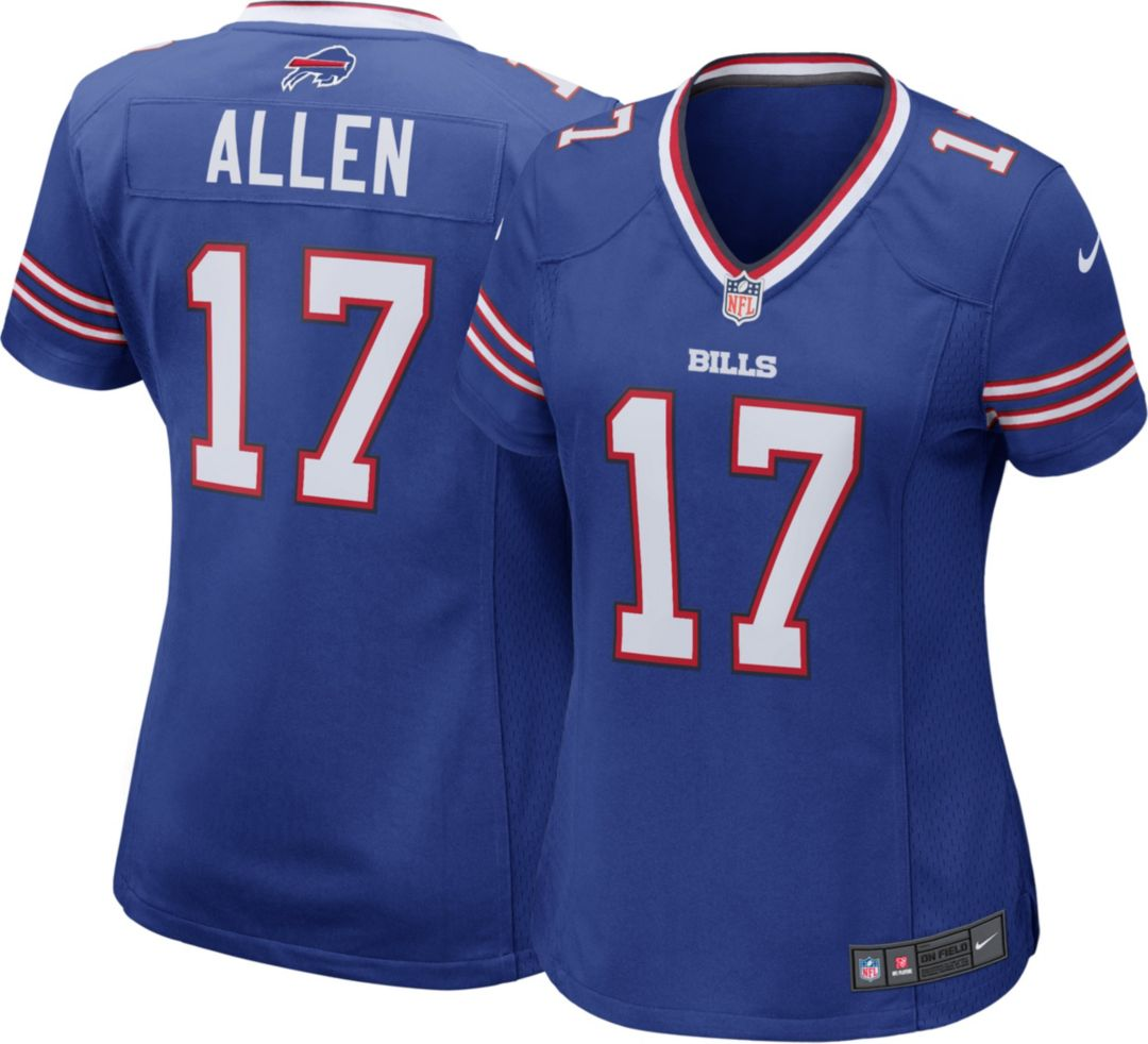 newest 32499 fc731 Nike Women's Home Game Jersey Buffalo Bills Josh Allen #17