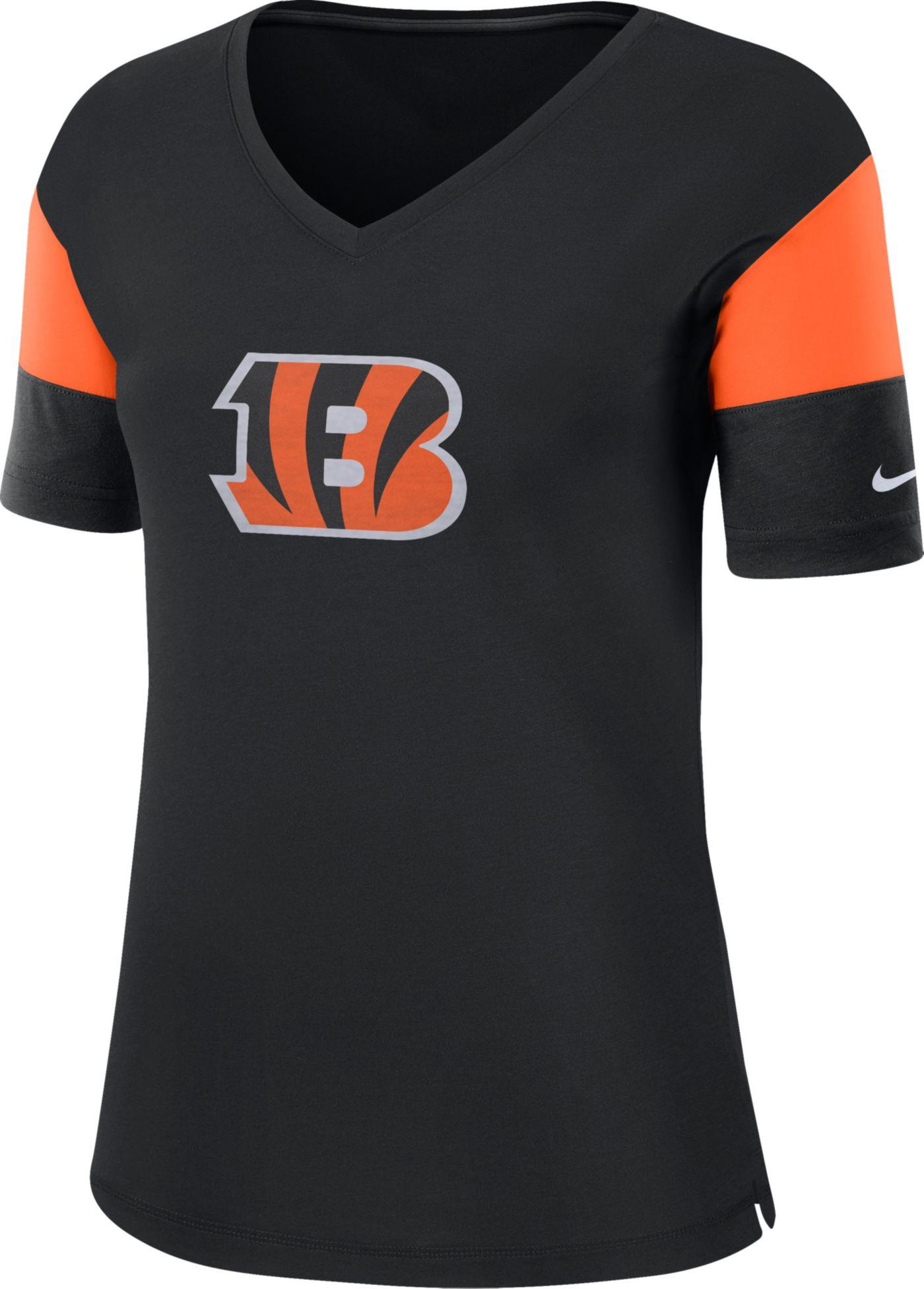 Nike Women's Cincinnati Bengals Breathe Black V-Neck T-Shirt