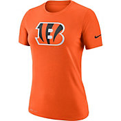 Nike Women's Cincinnati Bengals Logo Dri-FIT Performance Orange T-Shirt