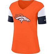 Nike Women's Denver Broncos Breathe Orange V-Neck T-Shirt