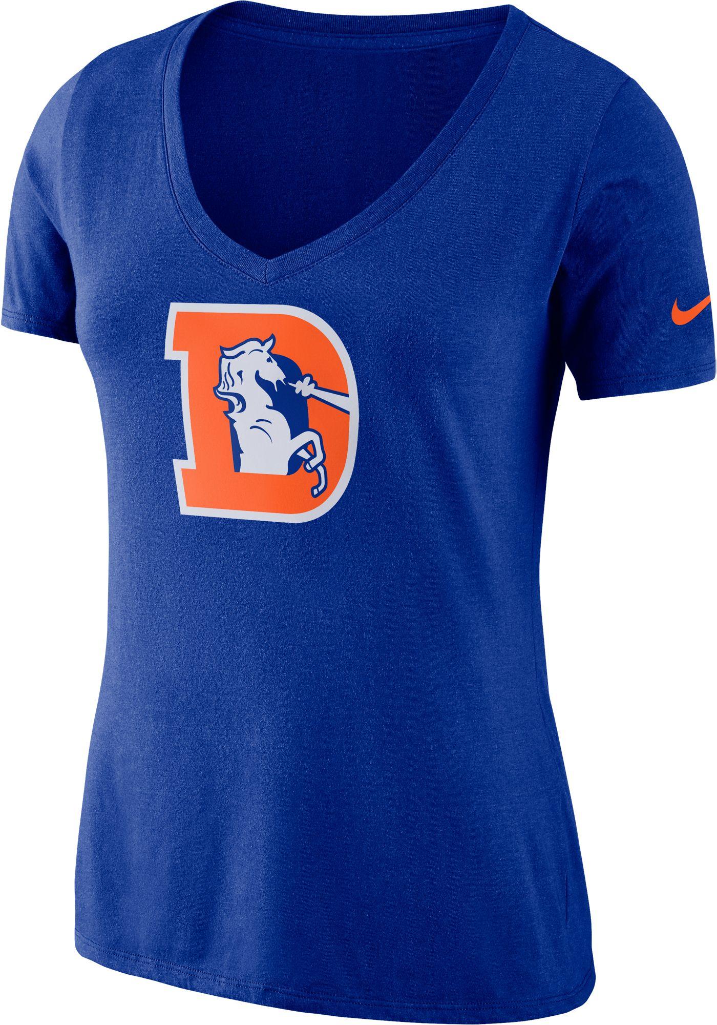 Nike Women's Denver Broncos Tri-Blend Historic Royal T-Shirt