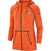 Nike Women's Denver Broncos Vintage Orange Full-Zip Hoodie