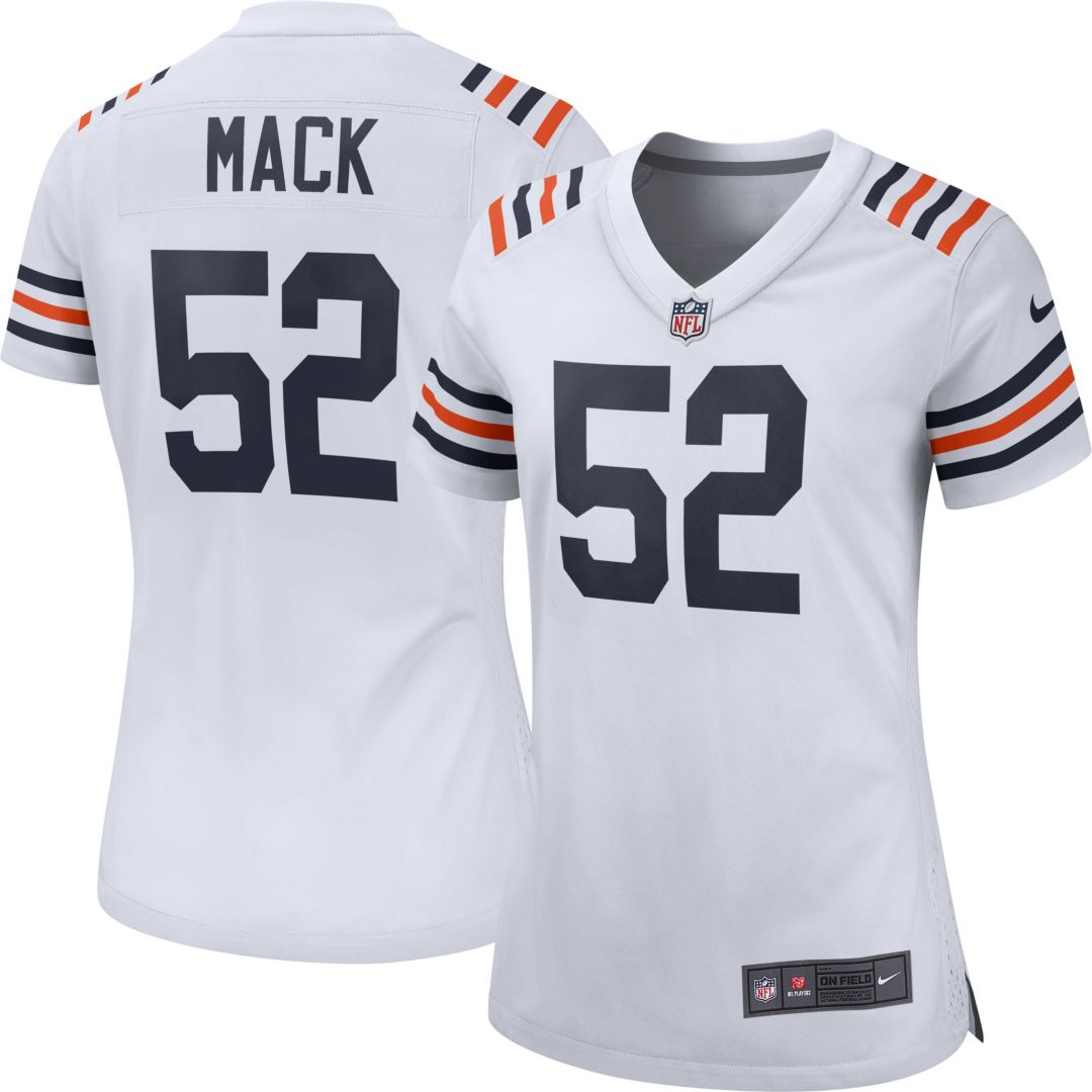 new product 9276e f0d2e Nike Women's Alternate Game Jersey Chicago Bears Khalil Mack #52