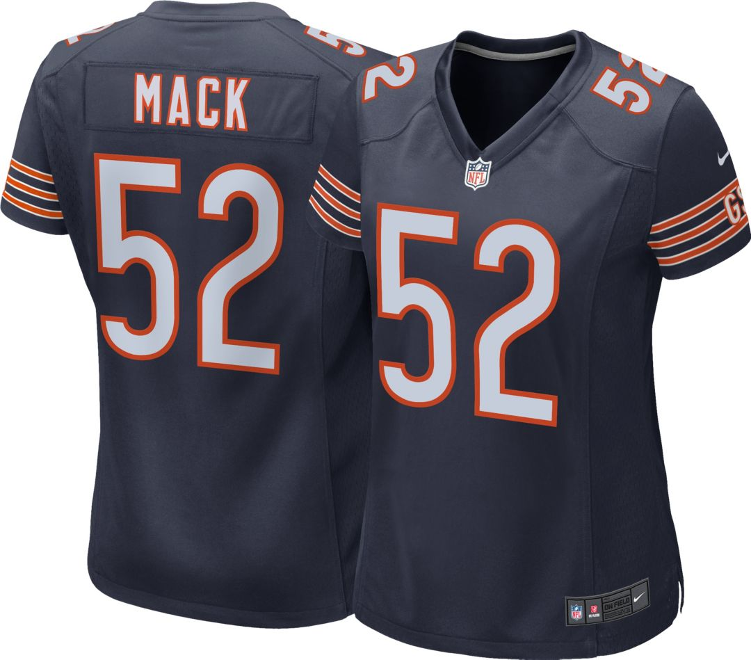 wholesale dealer 56dda 95d31 Nike Women's Home Game Jersey Chicago Bears Khalil Mack #52