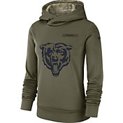 Nike Women's Salute to Service Chicago Bears Therma-FIT Performance Hoodie