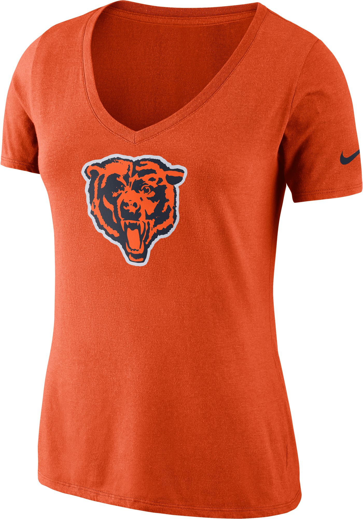 Nike Women's Chicago Bears Tri-Blend Historic Orange T-Shirt