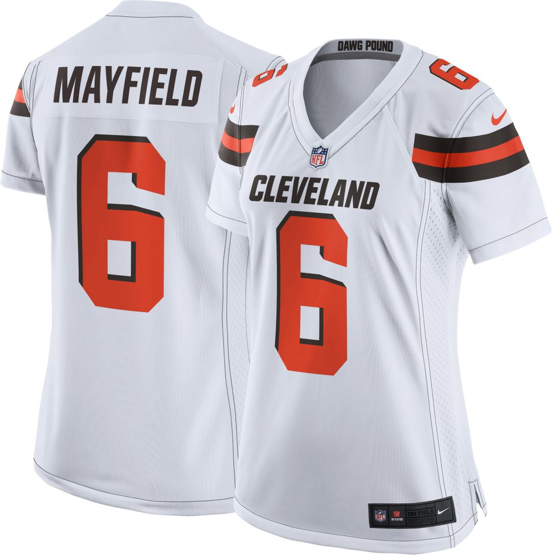 san francisco 7b303 5ae79 Nike Women's Away Game Jersey Cleveland Browns Baker Mayfield #6