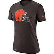 Nike Women's Cleveland Browns Logo Dri-FIT Performance Brown T-Shirt