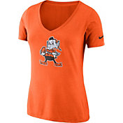 Nike Women's Cleveland Browns Tri-Blend Historic Orange T-Shirt
