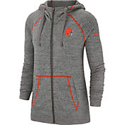 Nike Women's Cleveland Browns Vintage Grey Full-Zip Hoodie