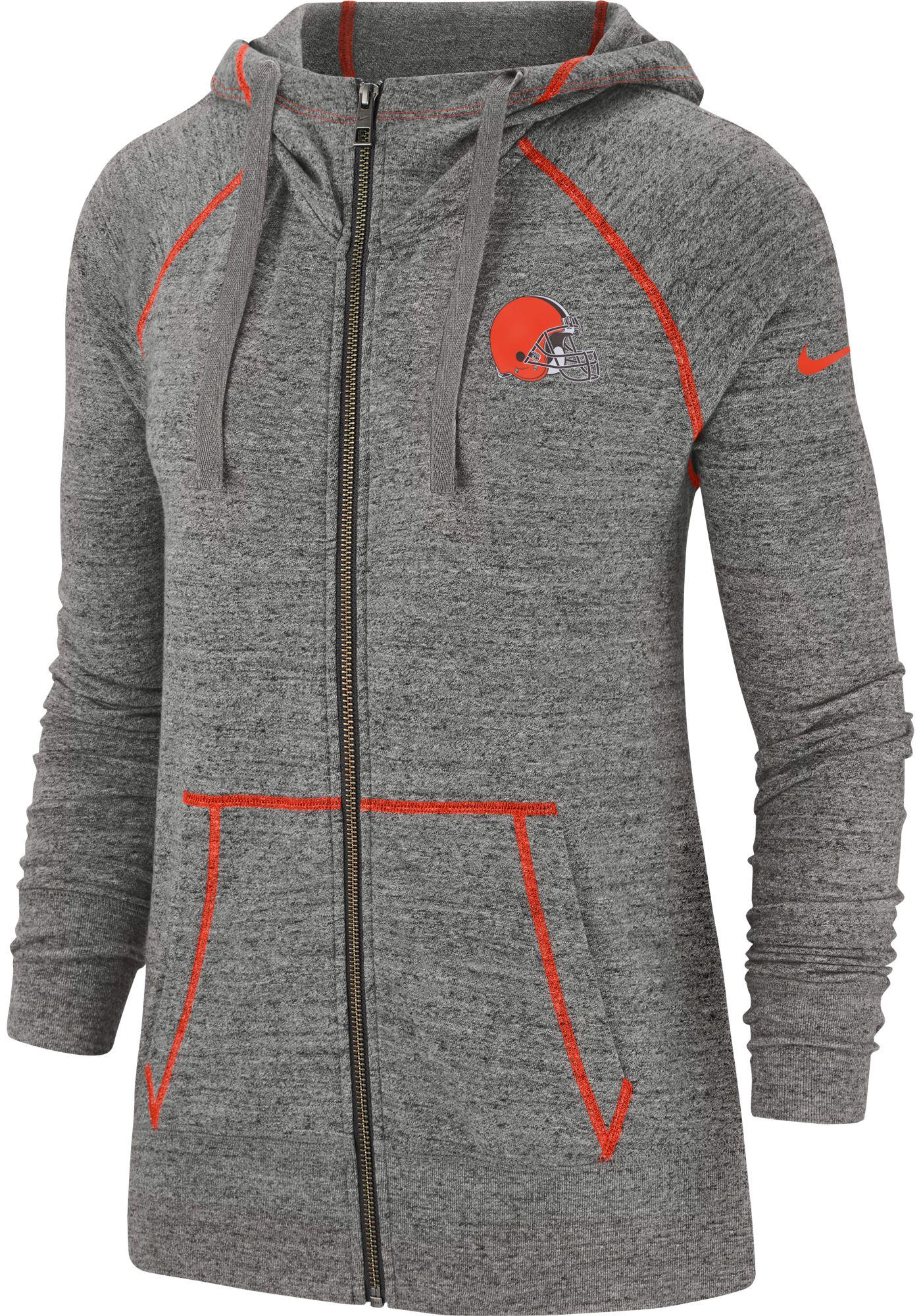 Nike Women's Cleveland Browns Vintage Grey Full-Zip Hoodie