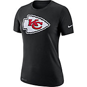 Nike Women's Kansas City Chiefs Logo Dri-FIT Performance Black T-Shirt