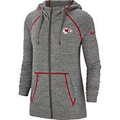 Nike Women's Kansas City Chiefs Vintage Grey Full-Zip Hoodie