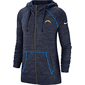 Nike Women's Los Angeles Chargers Vintage Navy Full-Zip Hoodie