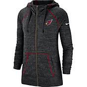 Nike Men's Arizona Cardinals Vintage Black Full-Zip Hoodie