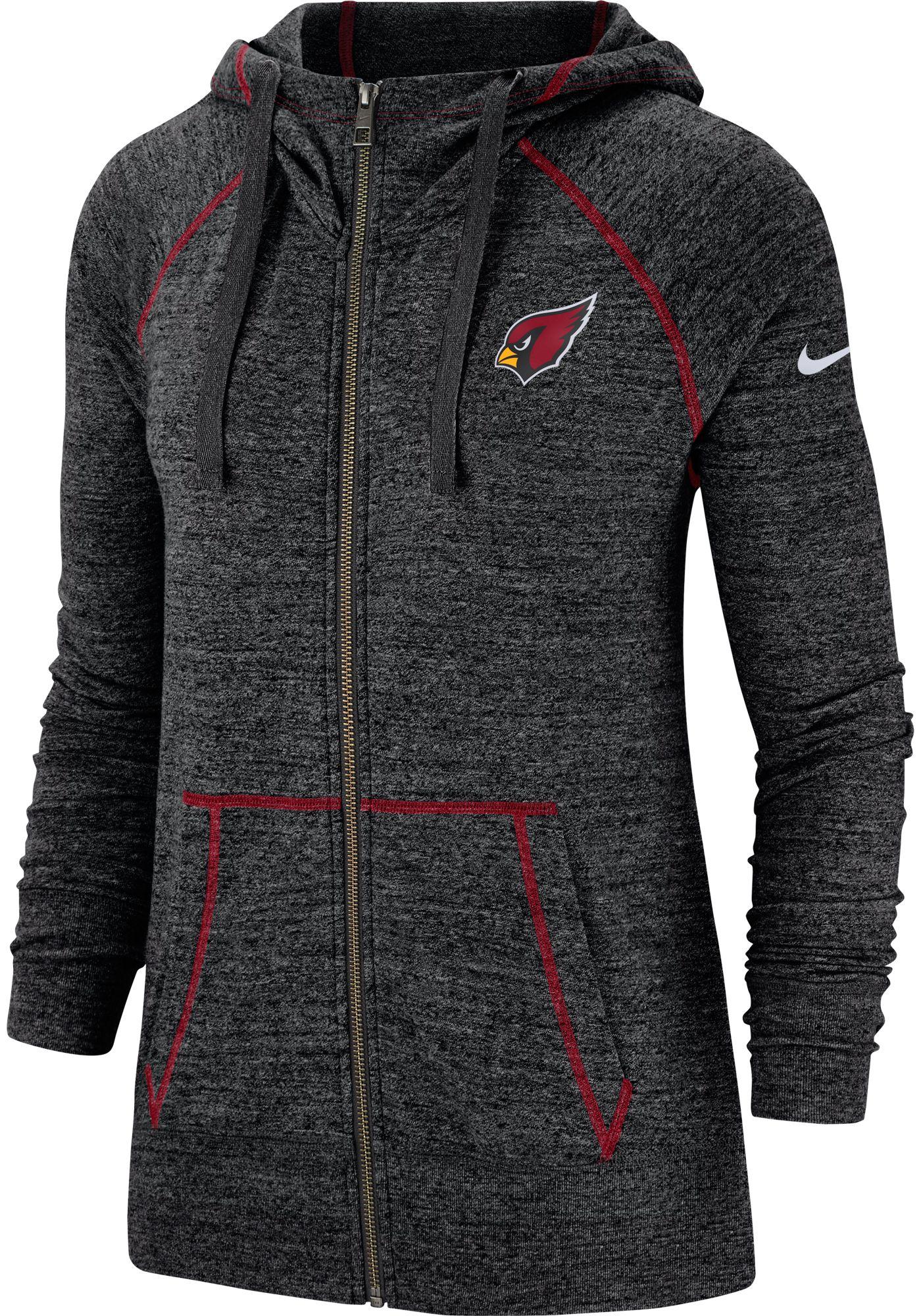 Nike Women's Arizona Cardinals Vintage Black Full-Zip Hoodie