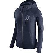 Nike Women's Dallas Cowboys Gym Vintage Full-Zip Navy Hoodie