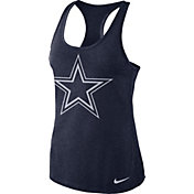 Nike Women's Dallas Cowboys Dri-FIT Performance Navy Tank Top