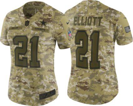 Nike Women s Salute to Service Dallas Cowboys Ezekiel Elliott  21 ... 2ff4d0a9d