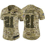 Nike Women's Salute to Service Dallas Cowboys Ezekiel Elliott #21 Limited Camouflage Jersey