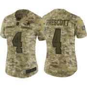 Nike Women s Salute to Service Dallas Cowboys Dak Prescott  4 Camouflage  Limited Jersey ce430f6a3