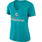 Nike Women's Miami Dolphins Dry Performance Aqua V-Neck Top