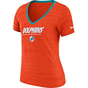 Nike Women's Miami Dolphins Legend Velocity Performance Orange T-Shirt