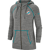 Nike Men's Miami Dolphins Vintage Grey Full-Zip Hoodie
