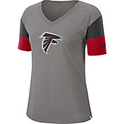 Nike Women's Atlanta Falcons Breathe Heather Grey V-Neck T-Shirt