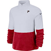 Nike Women's Atlanta Falcons Therma-FIT Fleece Half-Zip Pullover