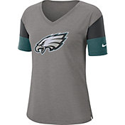 Nike Women's Philadelphia Eagles Breathe Heather Grey V-Neck T-Shirt