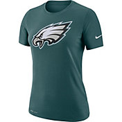 Nike Women's Philadelphia Eagles Logo Dri-FIT Performance Green T-Shirt